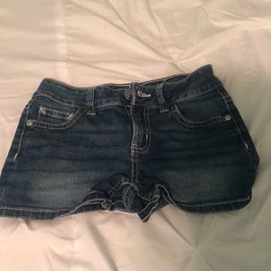 Size 20 justice jean shorts zip up